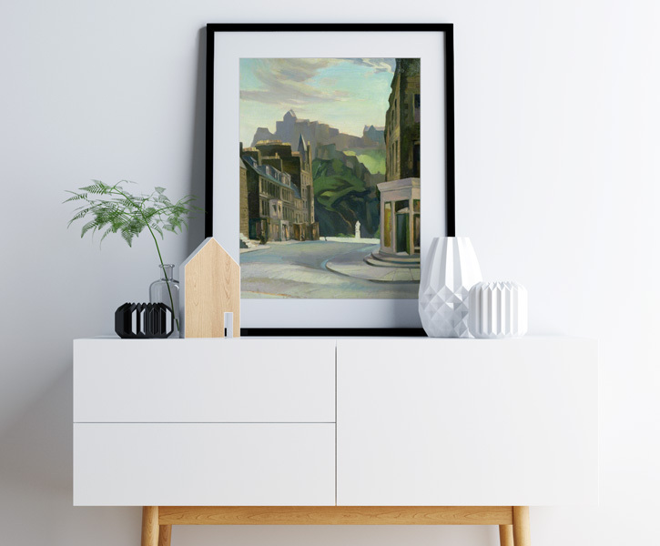 Framed print of 'Edinburgh from Castle Street'