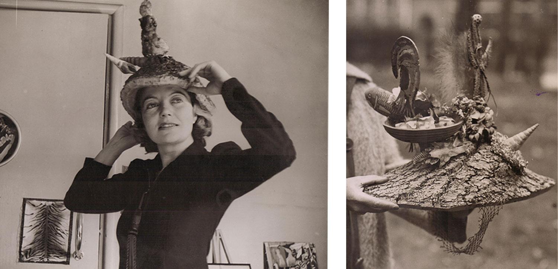Photographs of Agar wearing 'Ceremonial Hat for Eating Bouillabaisse'