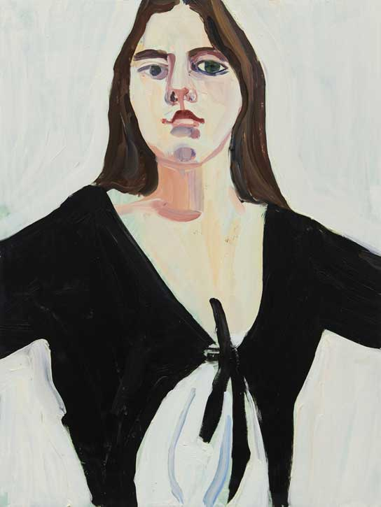 2020, oil on board by Chantal Joffe (b.1969)