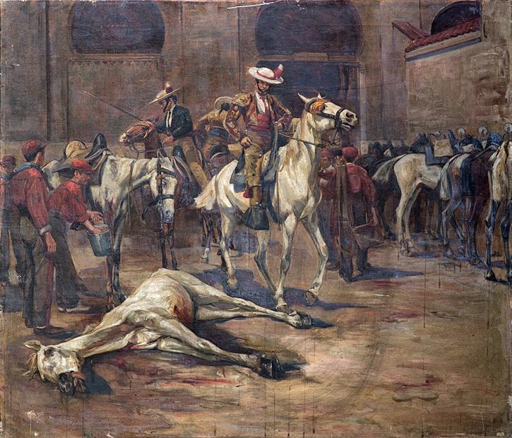 Picadors entrant dans la place des taureaux: Madrid