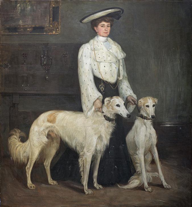 Mme Blair et ses borzois