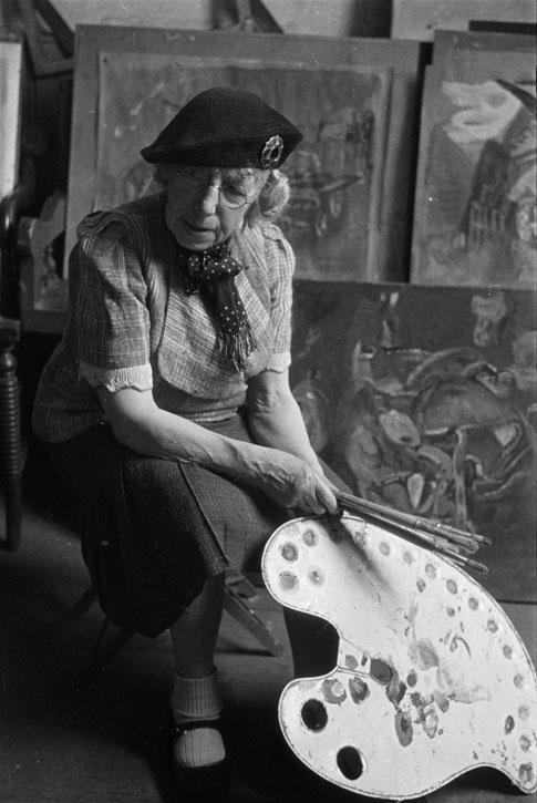 Frances Hodgkins at her Studio, Corfe Castle Village, Dorset