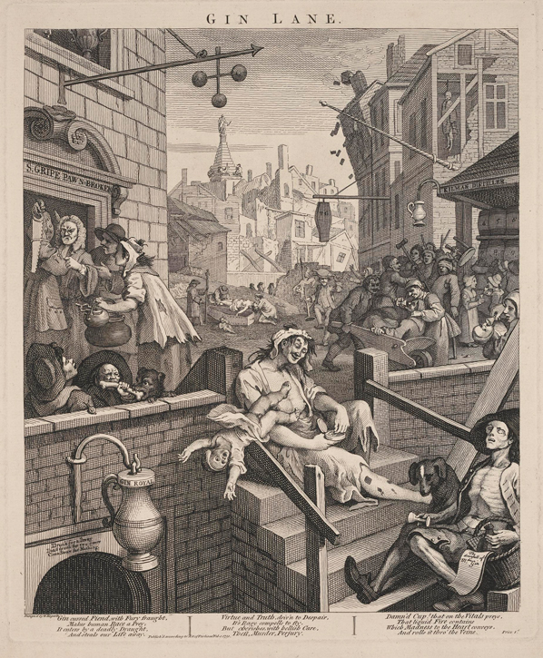 1751, engraving by William Hogarth (1697–1764)