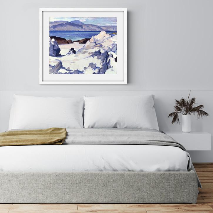 Framed print of 'Green Sea, Iona'