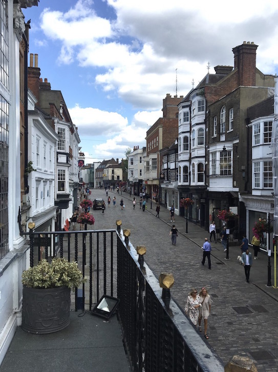 Guildford High Street, from the Guildhall