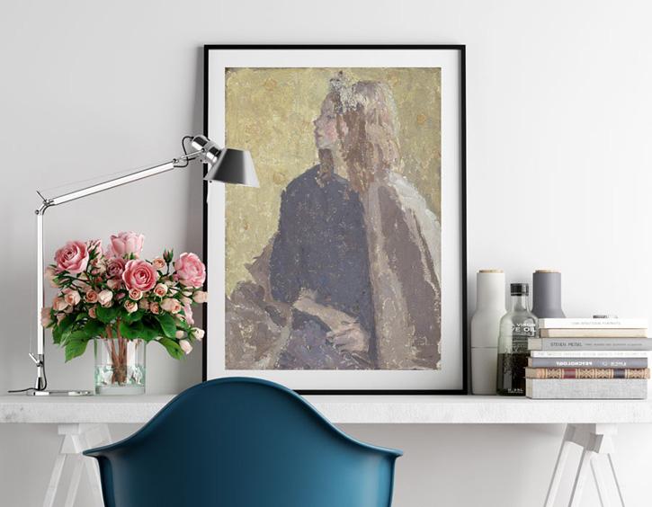 Framed print of 'Girl in Profile'