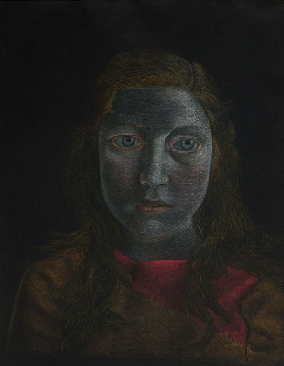 c.1948, pastel on black paper by Lucian Freud (1922–2011)