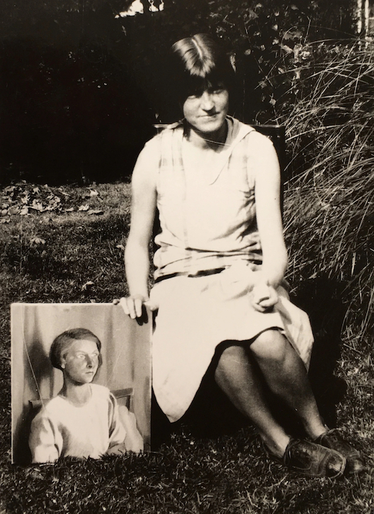 Dorothy Hepworth with 'Girl in Blue, Cookham'
