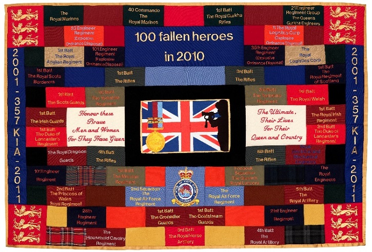 2011, embroidery by three former soldier inmates of HM Prison Wandsworth