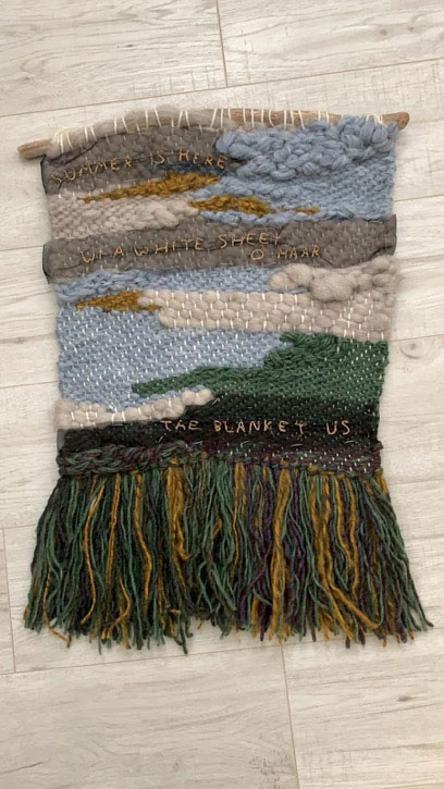 Weaving with a haiku in Doric