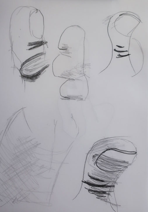 A student's quick drawings