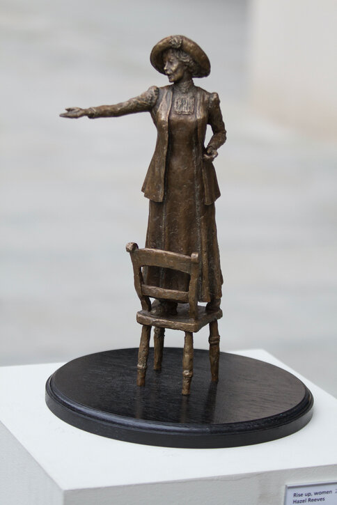 The bronze maquette of Emmeline