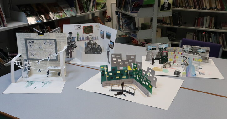 Some examples of the students' pop-up crime scenes
