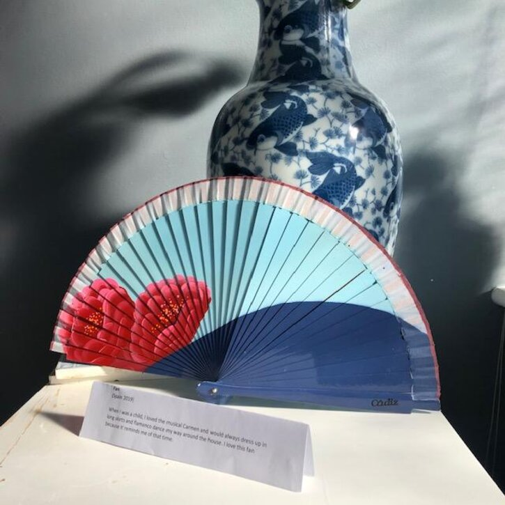 One of Katie's favourite things – her Spanish hand fan