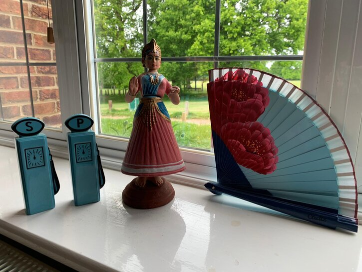 Katie's windowsill exhibition is an example of a group curation