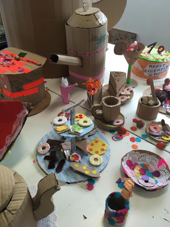 Tea party installation