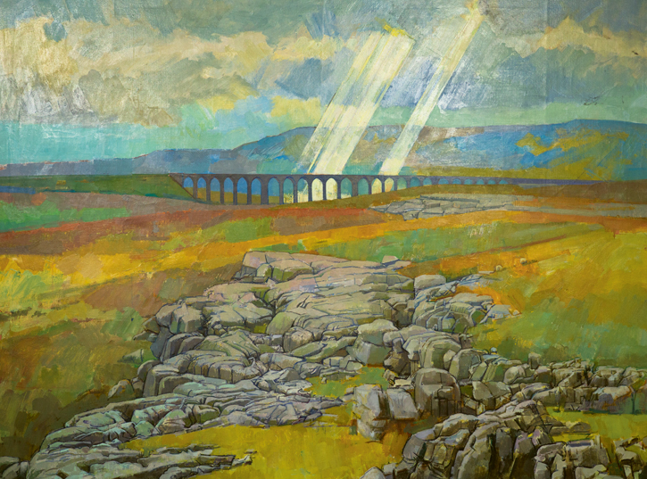 Ribblehead Viaduct with Fingers of God