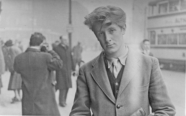 John Hoyland on Sheffield High Street, aged 18