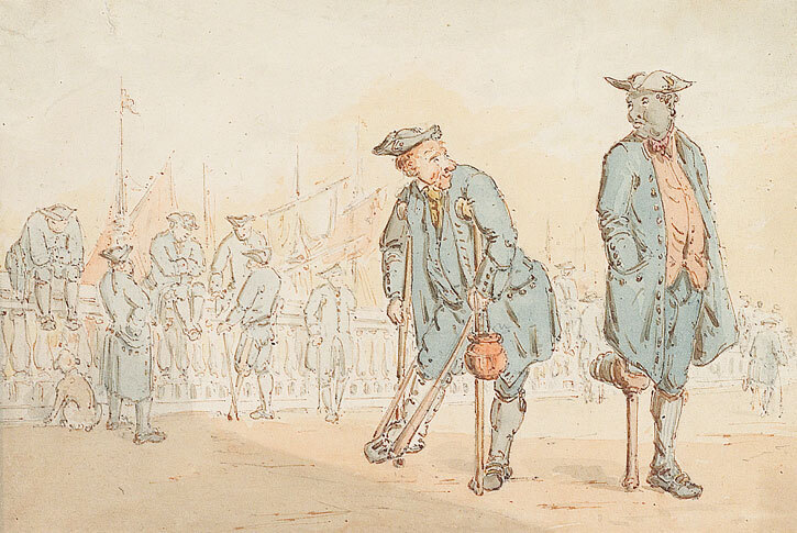 A Caricature of Greenwich Pensioners