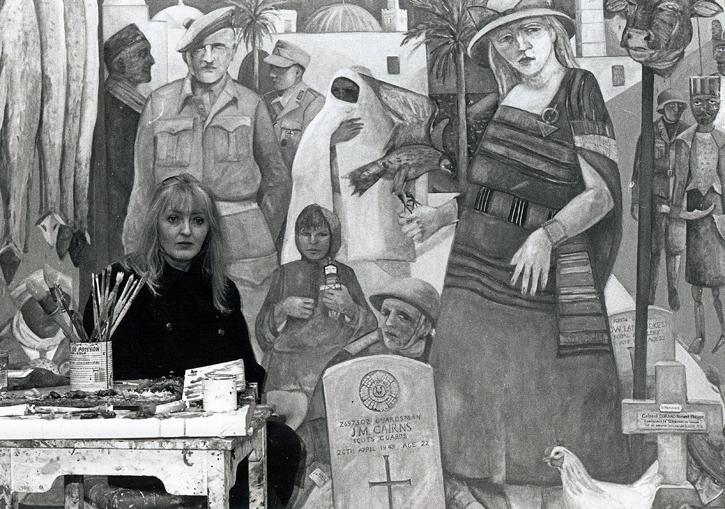 Joyce W. Cairns in her studio
