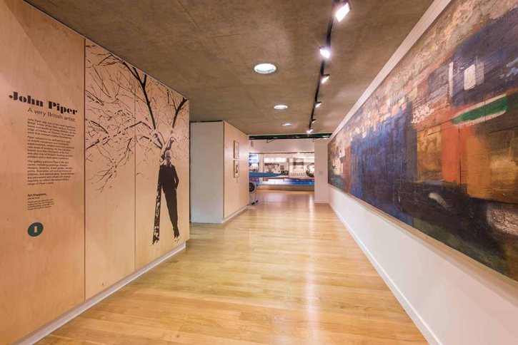 Interior of the Museum showing entrance to the gallery and 'Landscape of the Two Seasons'
