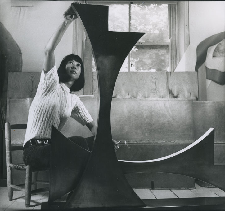 Kim Lim in the studio, London