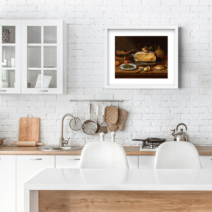 Framed print of 'Still Life with Cheese'