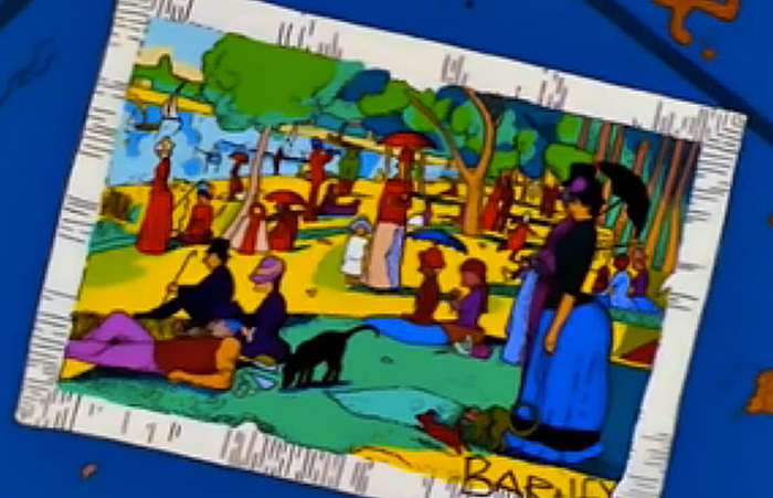 Still from The Simpsons, Season 10, Episode 19 – 'Mom and Pop Art'