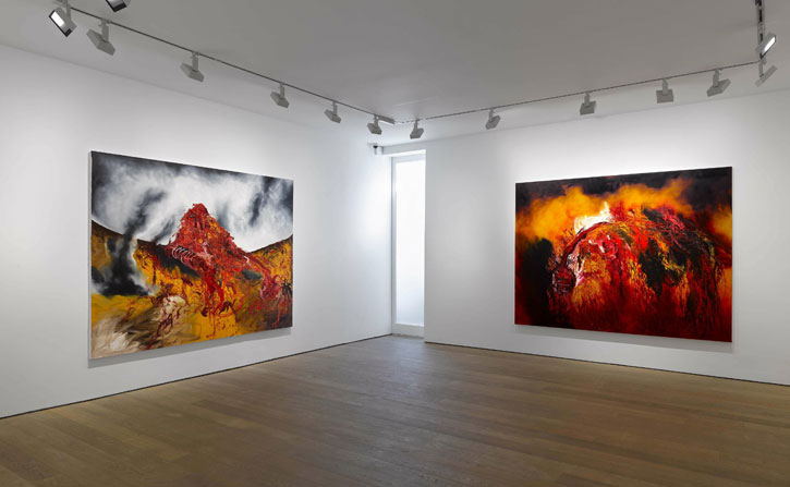 Installation view at Lisson Gallery, London