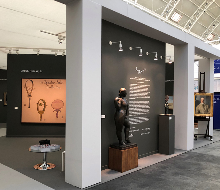 Art UK's exhibition at the London Art Fair in 2018