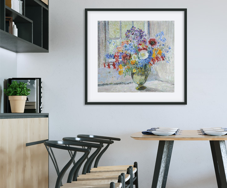 Framed print of 'Still Life, Flowers'