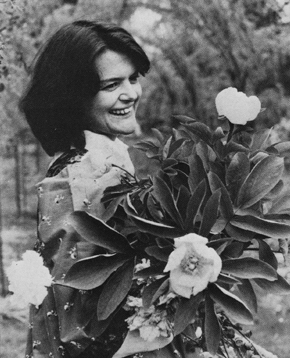 Maggie Keswick Jencks in her garden in Portrack, Scotland