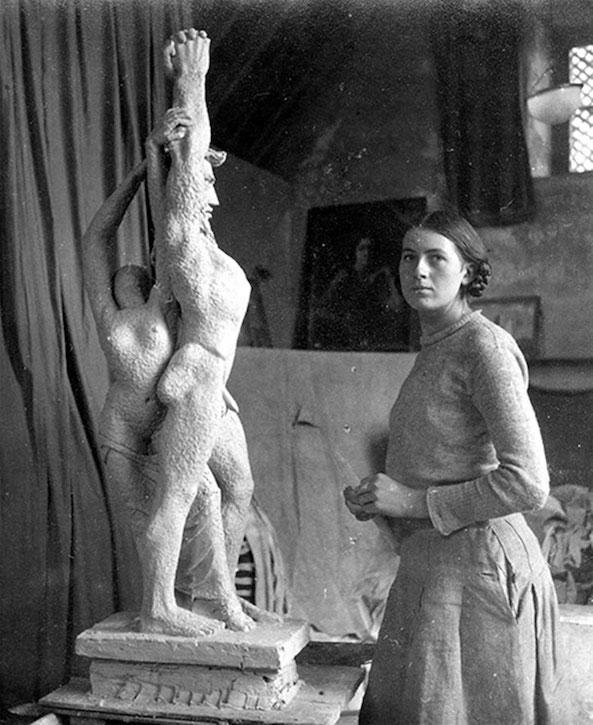 Mary Spencer Watson in her studio