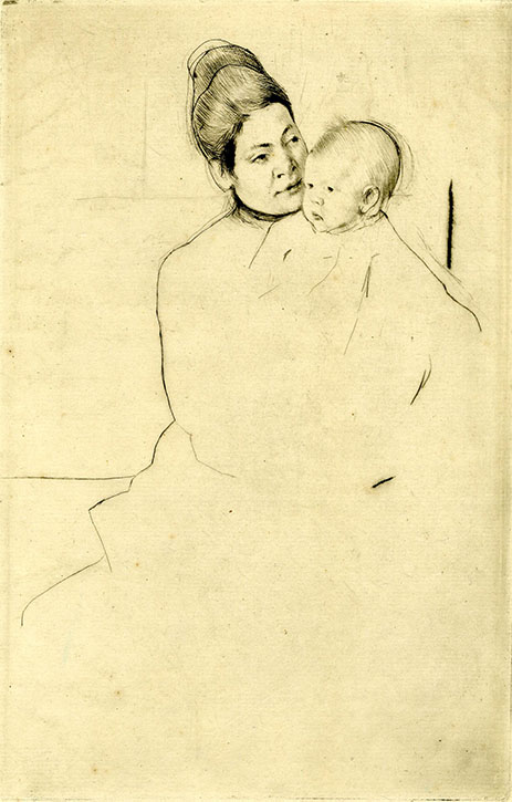 Gardner held by his mother