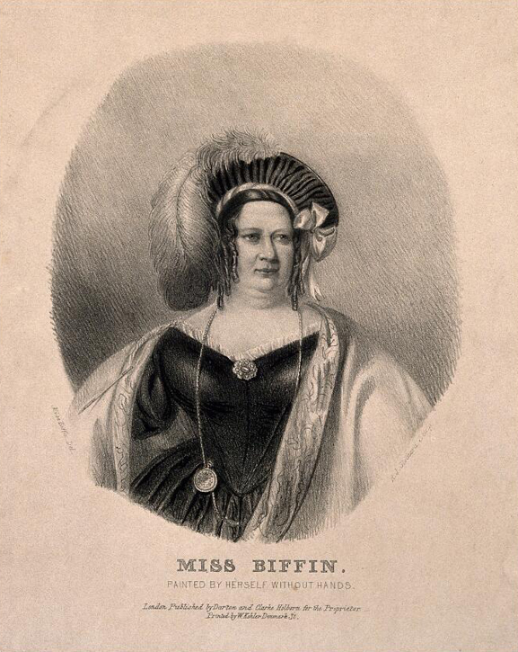 'Miss Biffin. Painted by herself without hands'