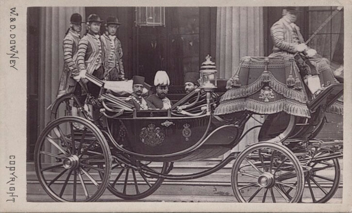 Naser al-Din, Shah of Persia, Edward VII (when Prince of Wales) and five unknown sitters