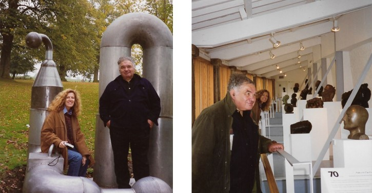 Nicole Farhi and Eduardo Paolozzi at Yorkshire Sculpture Park