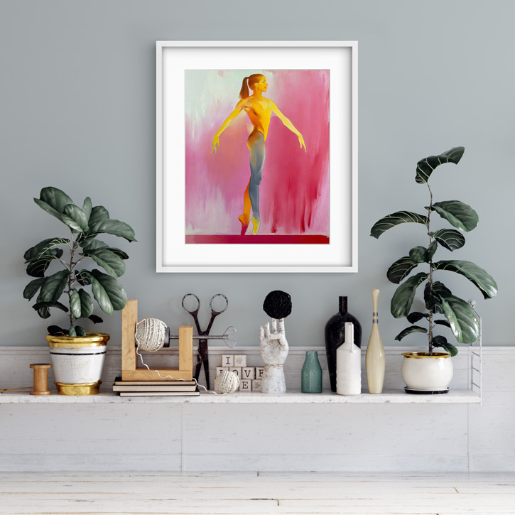 Framed print of 'Darcey Bussell'