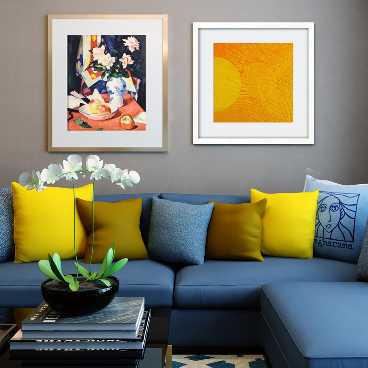 Bright ochre prints to refresh your home