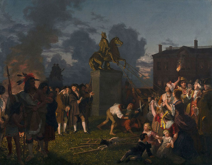 Pulling Down the Statue of George III, New York City