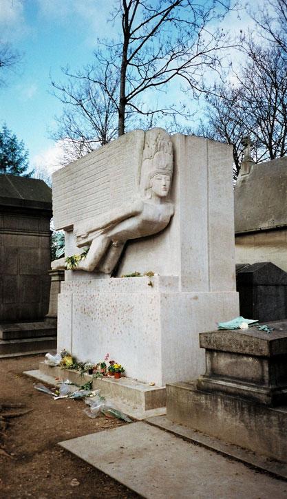 Oscar Wilde's Grave, Pere Lachaise Cemetery, Paris, France