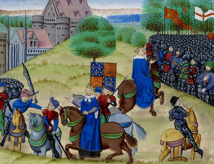 c.1483, manuscript copy of the Chronicles of Jean Froissart (1337–1405)