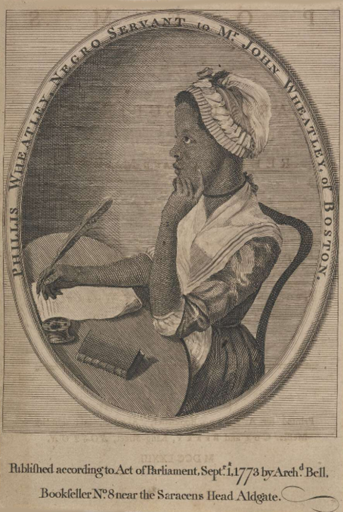 Frontispiece to Phillis Wheatley's 'Poems on Various Subjects'