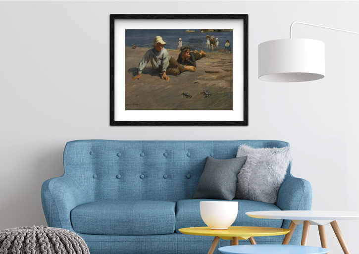 Framed print of 'Sport on the Shore – A Crab Race'