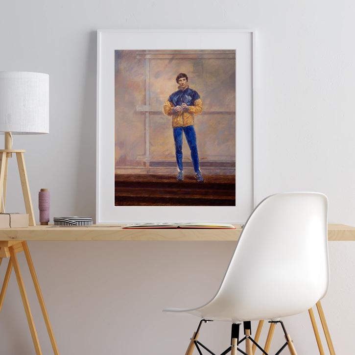 Framed print of 'Sebastian Coe, Baron Coe'