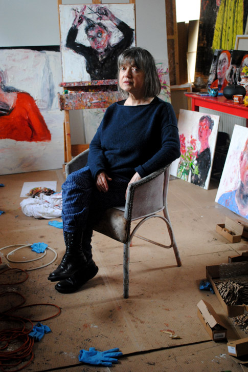Shani Rhys James in her studio