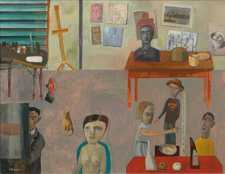 2021, oil on canvas by Simon Quadrat, 71 x 91 cm unframed, 89 x 109 cm framed. Estimate: £6,000–9,000