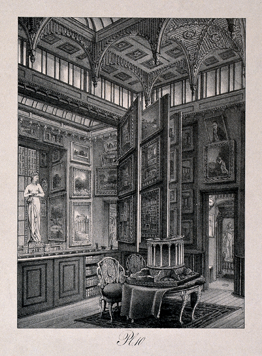 Sir John Soane's House and Museum: the picture gallery at ground floor level