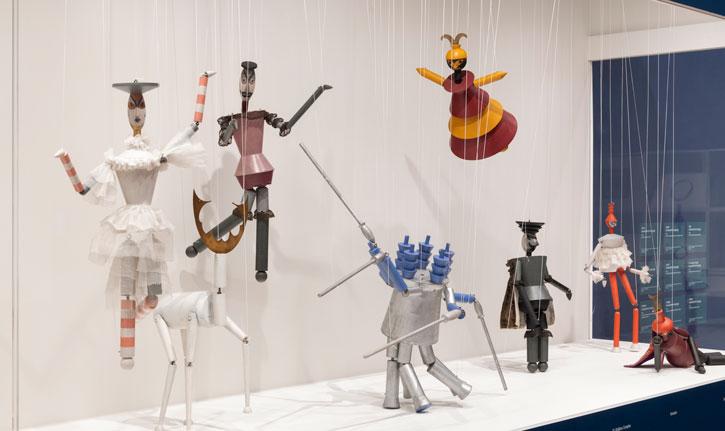 Installation shot of Sophie Taeuber-Arp at Tate Modern, 2021