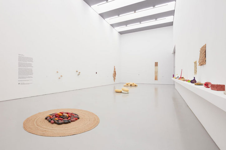 Installation view of 'Along a Spectrum' at Spike Island